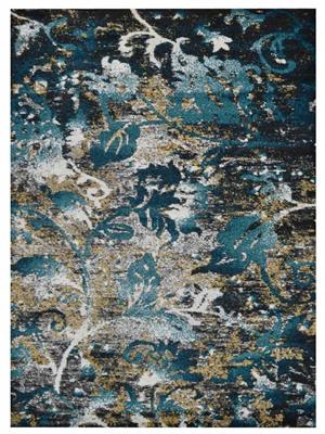Machine woven polypropylene turkish floral area rug