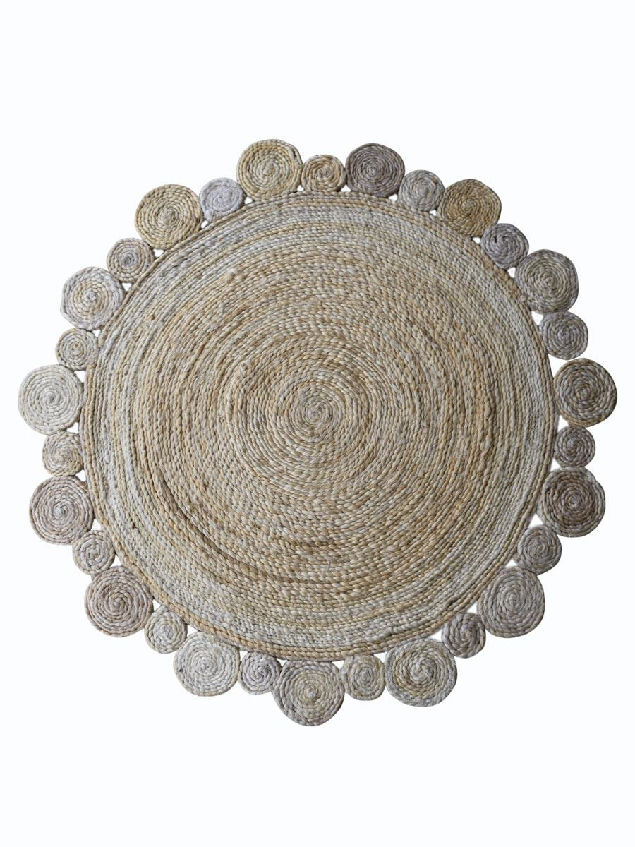 Buy Hand Woven Jute Contemporary Round Area Rug Online