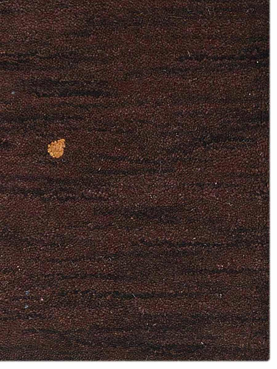 Hand Knotted Solid Brown Contemporary Gabbe Carpet