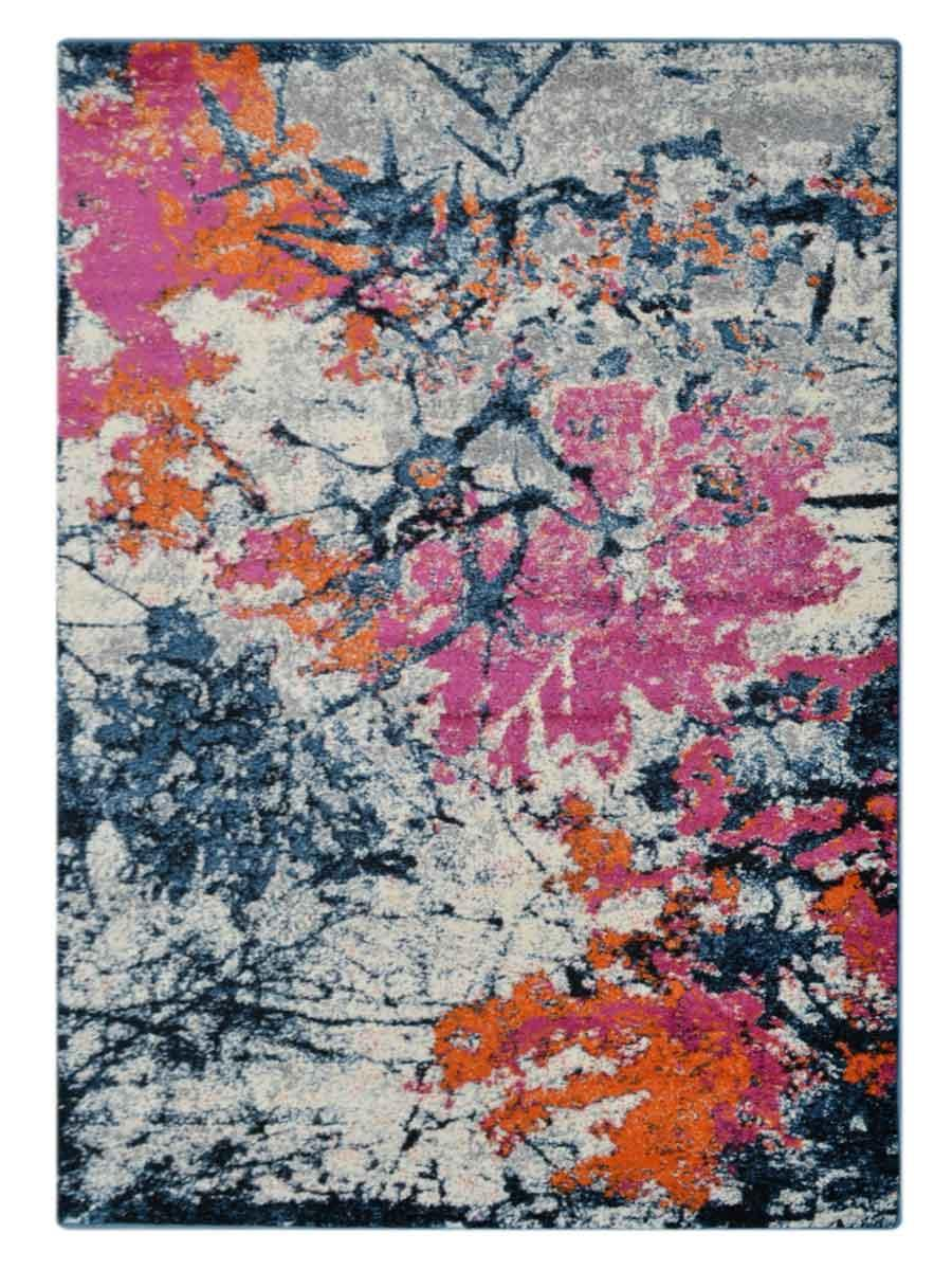 Machine Woven Polypropylene Floral Area Rug