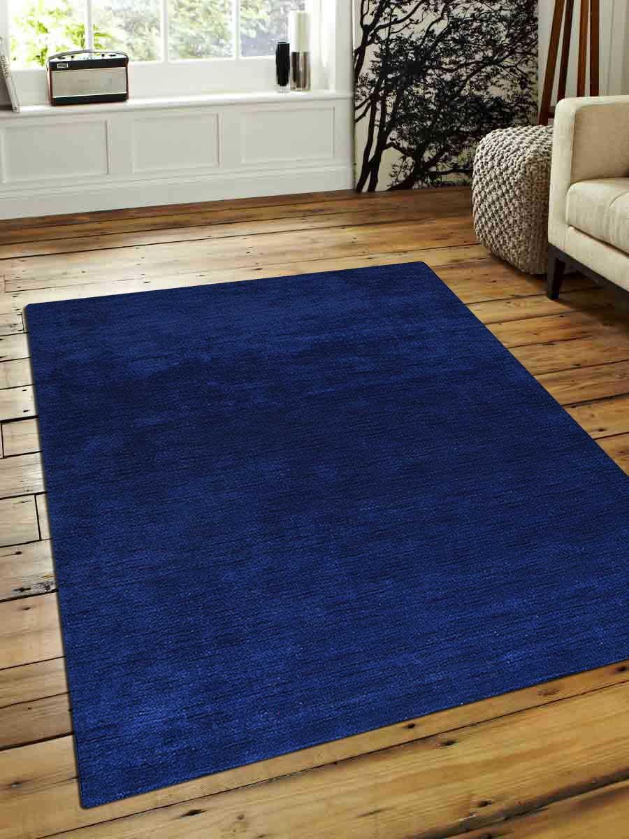 Buy Hand Knotted Loom Woolen Rug Aqua L00111 Online