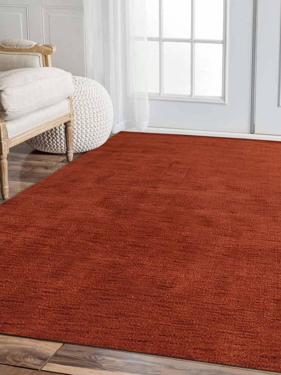 Buy Hand Knotted Gabbeh Wool 8x8 Square Area Rug Solid Light