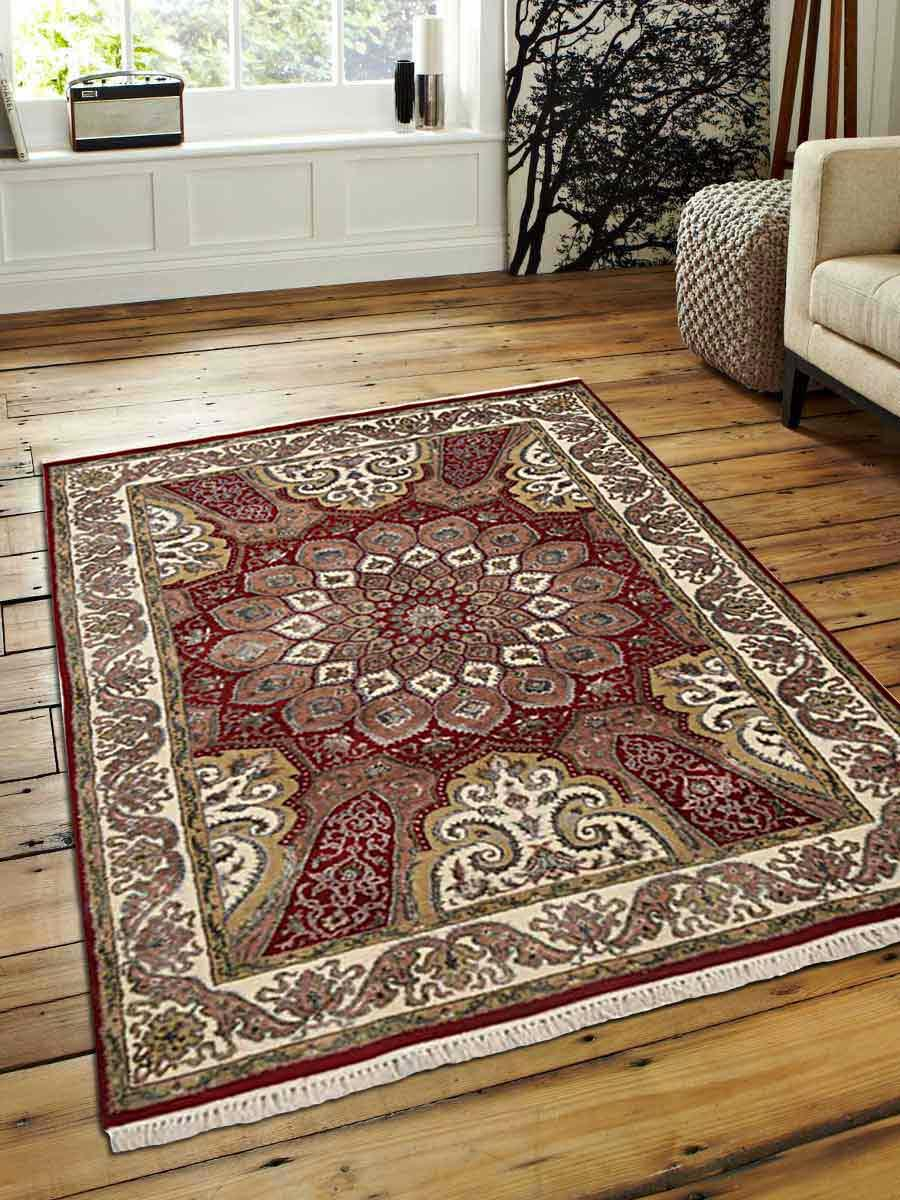 Hand Knotted Isfahan Wool 4